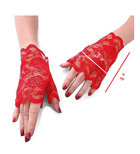 Wedding Dress Preservation Uv Protected: Gauss Kevin Lace Gloves UV Protection Fingerless Gloves