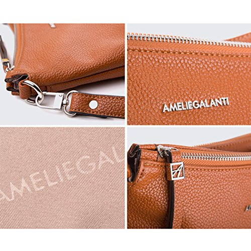 Multi Pockets Pu Leather Crossbody Bag Shoulder Purse By AMELIE ... f9c2255e23e85