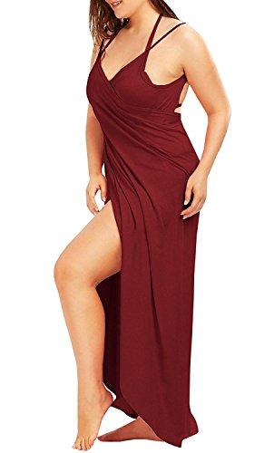L Amp Zz Women S Spaghetti Strap Cover Up Beach Backless Wrap