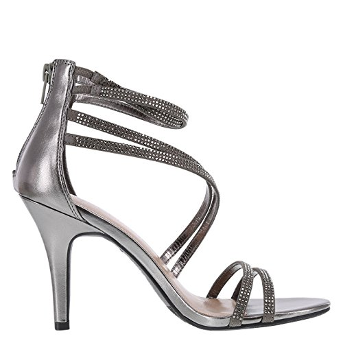 e211396770d Christian Siriano for Payless Pewter Women s Kerr Asymmetrical Pump 7  Regular