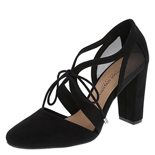 0a0fdb3a457 Christian Siriano for Payless Women's Black Suede Kami Ghillie Block ...