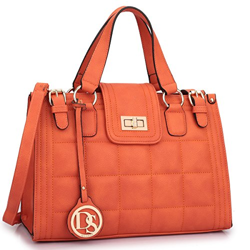 20f897a1108c Dasein Women Designer Satchel Bags Quilted Handbags Structured Work Bags  Shoulder Bags with …