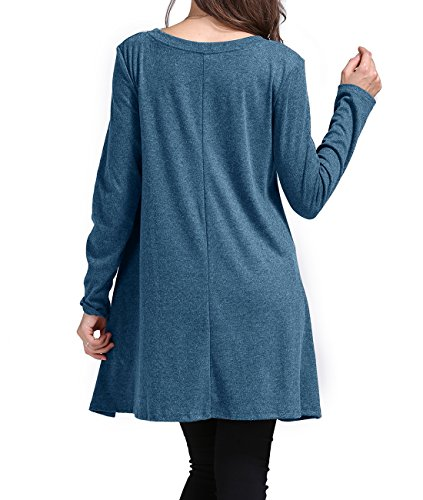 ee65befd881 Sanifer Women Lace Long Sleeve Tunic Blouse functionality: Sex: Women  Casual style. Type of article: Women Top
