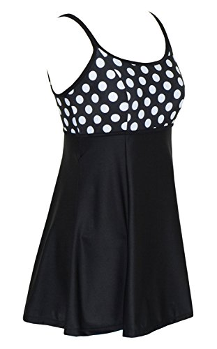 Women S One Piece Polka Dot Swimdress Cover Up Swimsuit