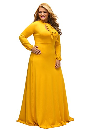 5be40b8183940 ➧The length of the sleevesLong dress with long sleeves. ➧functionality:  Vintage, Bow Bow, Long Dress, Plus Size. ➧Opportunity: Plus size dress for  women ...