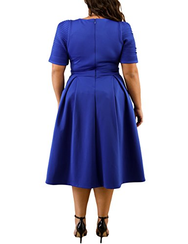 Lalagen Womens Plus Size 1950s Vintage Cocktail Dresses Flare Swing