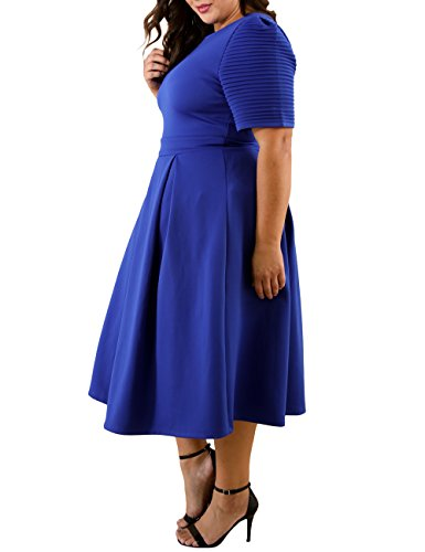 0aadd7fa9b Lalagen Womens Plus Size 1950s Vintage Cocktail Dresses Flare Swing ...
