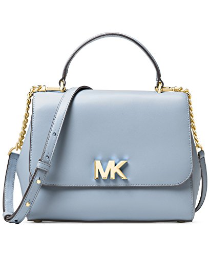 fff8115a14c0 Michael Kors Mott Medium Leather Satchel- Pale Blue
