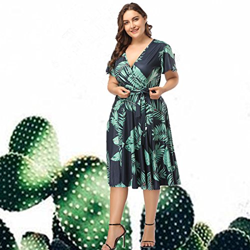Party Lady Womens Floral Print Vintage Style Plus Size Swing Casual