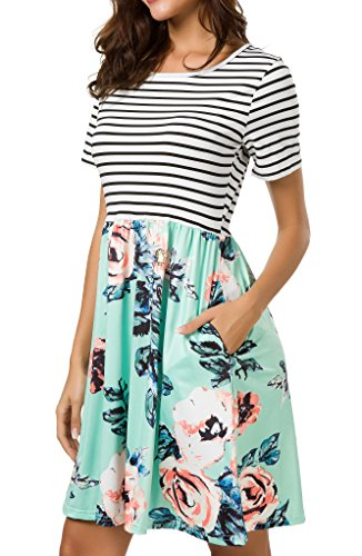 Am Clothes Plus Size Summer Dresses For Women Short Sleeve Midi