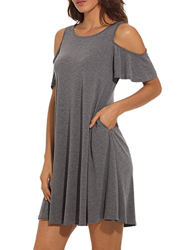 Uniboutique Short Sleeve Long Tunics For Women To Wear With Leggings