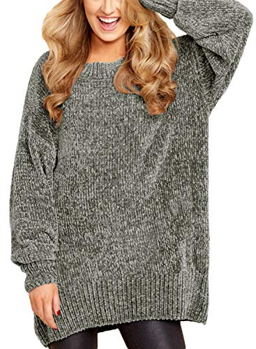 Zkess Casual Oversized Sweaters Women Plus Size Chunky Knitted