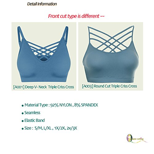 e3e3f280f7fad  DESIGN   FIT  ᆞFront Sexy V-LATTICE Bralette Bra TopᆞSeamless and Wirefree Bra  Crop Top ᆞRemovable Pads ᆞAdjustable Spaghetti Traps Top ᆞ Wire Free ...