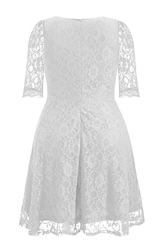 1c52600be92c Pinup Fashion Women s Plus Size Lace Bridal Formal Skater Dress White 18W.  Welcome to Pinup Fashion This comfortable and well made dress with hidden  zipper ...