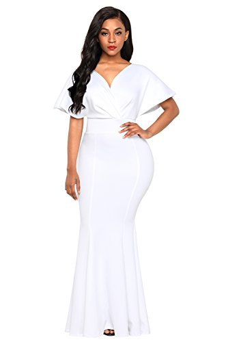 cbf226901f7de FUSENFENG Women's Plus Size Off Shoulder Mermaid Formal Party Long Maxi Dress  Evening Gowns. FUSENFENG Women's Evening Dress, Size Chart (Inches)