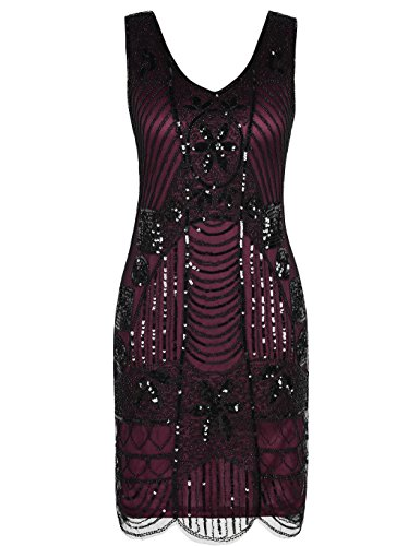 Kayamiya Women\'s Retro 20s Beaded Inspired Gatsby Flapper Plus Size ...