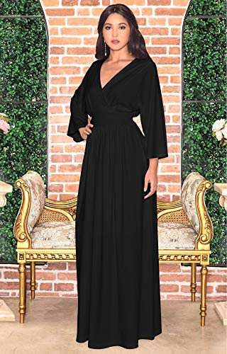 fc02e1bf9227b Another gorgeous long sleeve dress from Koh Koh. This gorgeous new design  features kimono-style flared sleeves