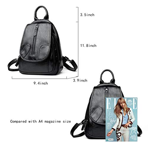 84db85b1c9 Mynos Cute Leather Backpack Fashion Small Daypacks Purse for Girls and Women  (BLUE). The mini backpack is made from soft PU leather