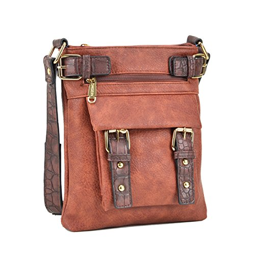 90a866d7b64 Dasein Top Belted Crossbody Bags for Women Soft Leather Messenger Bag  Shoulder Bag Travel Pu…