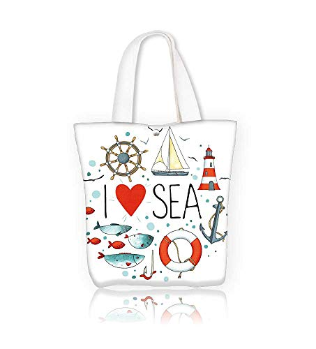 b682a0c25da1 Women's Canvas Tote Handbags Collection of nautical elements in a ...