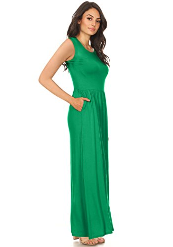 Kelly Green Maxi Dress for Women Regular and Plus Size ...