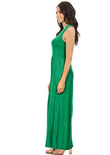 Kelly Green Maxi Dress for Women Regular and Plus Size Summer Long ...