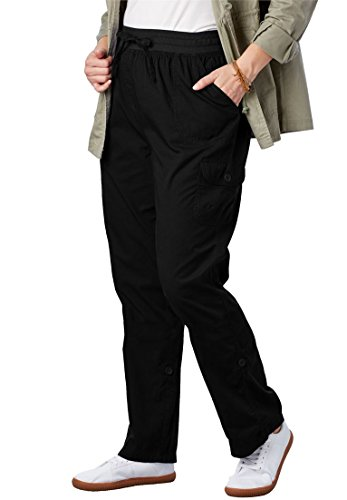 Woman Within Plus Size Convertible Length Cargo Pant