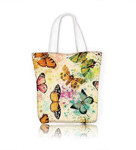 7d0f1234d36e Women's Canvas Tote Handbags seamless with watercolor bright ...