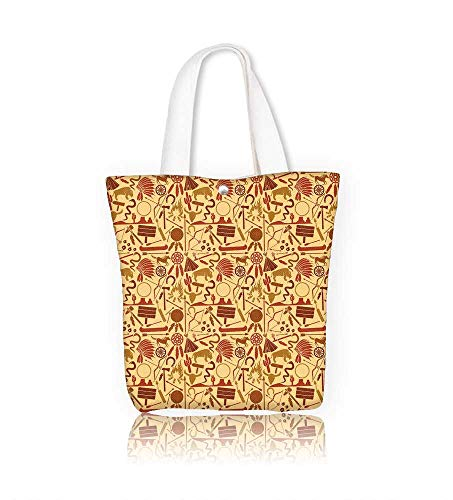 f4d9bc5cfc6a Women's Canvas Tote Bag native american indians icons seamless work ...