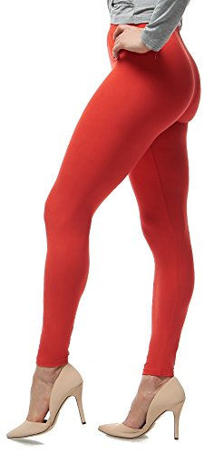 47dd4a241d6 Lush Moda Extra Soft Leggings – Variety of Colors – Red. Posted In  Plus  Size