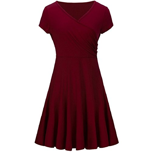 c4b424cfc92 OEUVRE Womens Cold Shoulder Velvet A-Line Long Sleeve Shift Dress Red 12  ShenPr Women Elegant Dresses