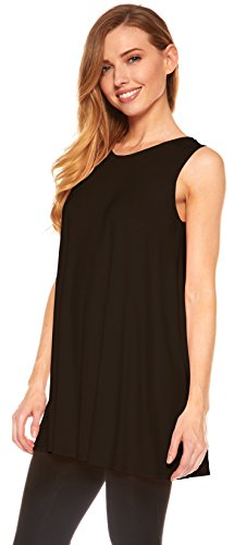 Red Hanger Womens Sleeveless Tunics Women Flowy Tunic