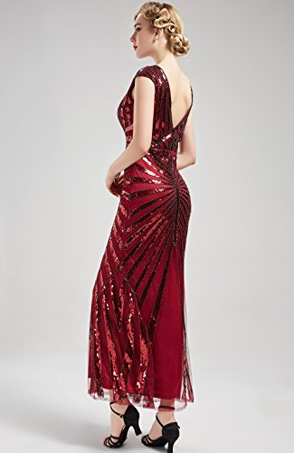 Babeyond Women S 1920s Vintage Long Sequined Evening Dress